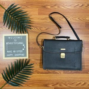 Brooks Brothers Leather Briefcase Satchel Laptop
